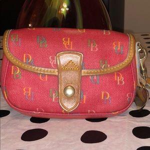 Dooney & Bourke Leather Signature Wristlet Wallet